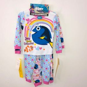 Disney Finding Dory 4 Piece Pajama Set
